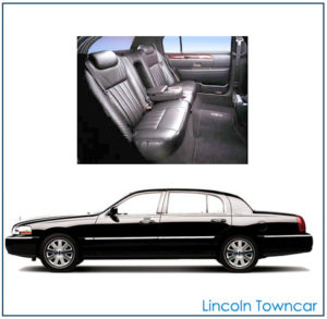 Massachusetts Lincoln Town Car rental exterior and interior
