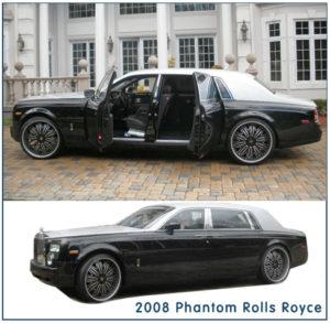 Rolls Royce limo rental in MA